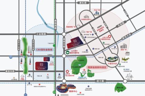 济南仁恒奥体公园世纪区域位置图1