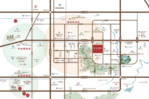 济南济高绿城桂语朝阳区域位置图