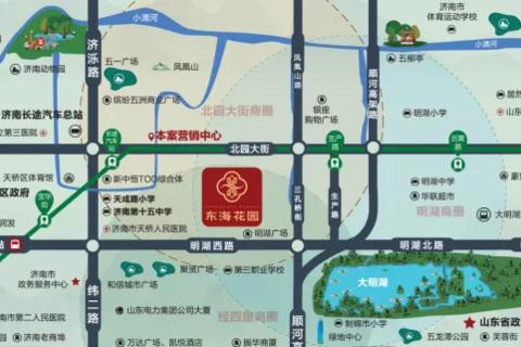 济南东海花园区域位置图1