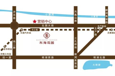 济南东海花园区域位置图3