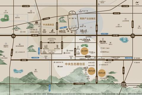 济南历城琼华九璋区域位置图1