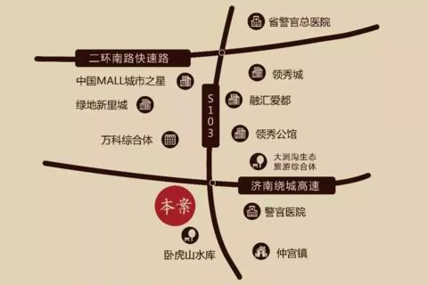 济南历城桃李春风区域位置图2