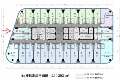 济南高新区云泉中心建筑平面图1