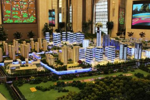 济南市中区绿地新里城售楼处沙盘图2