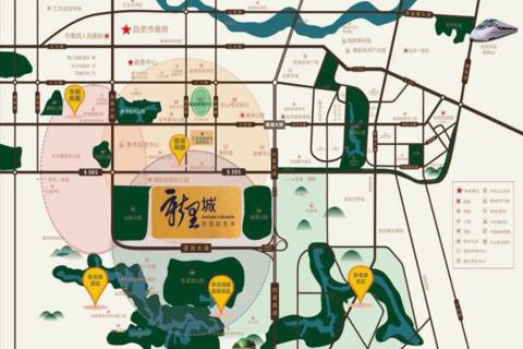 济南市中区绿地新里城区域位置图1