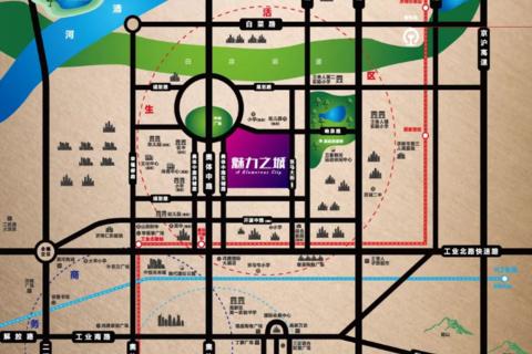 济南历城区魅力之城区域位置图1