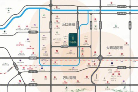 济南天桥区鑫都禧悦位置图1