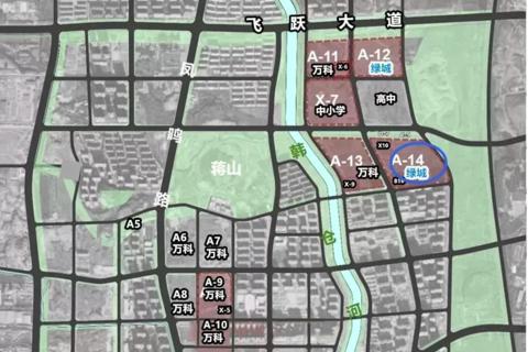 济南历城区雪山绿城春来晓园区位图3