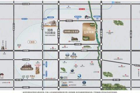 济南历下区招商滨河府位置区域图1