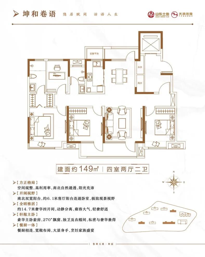 济南市历城区鲁坤天鸿·坤园区域户型图2