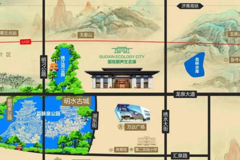 济南市章丘区国欣颐养生态城区域位置图1