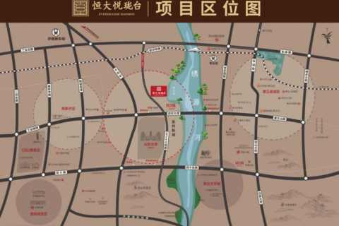 济南市章丘区恒大悦珑台区域位置图2