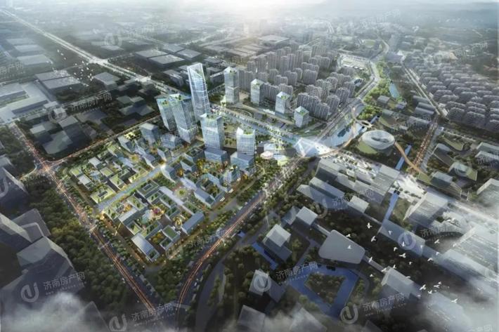 济南市高新区烯谷国际中心效果图3