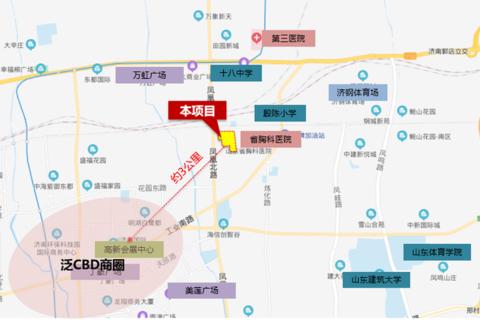 济南市历城区远洋凤栖翰林区位图2