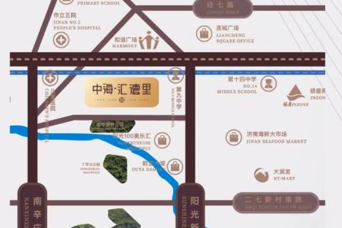 济南市槐荫区中海汇德里区域位置图1