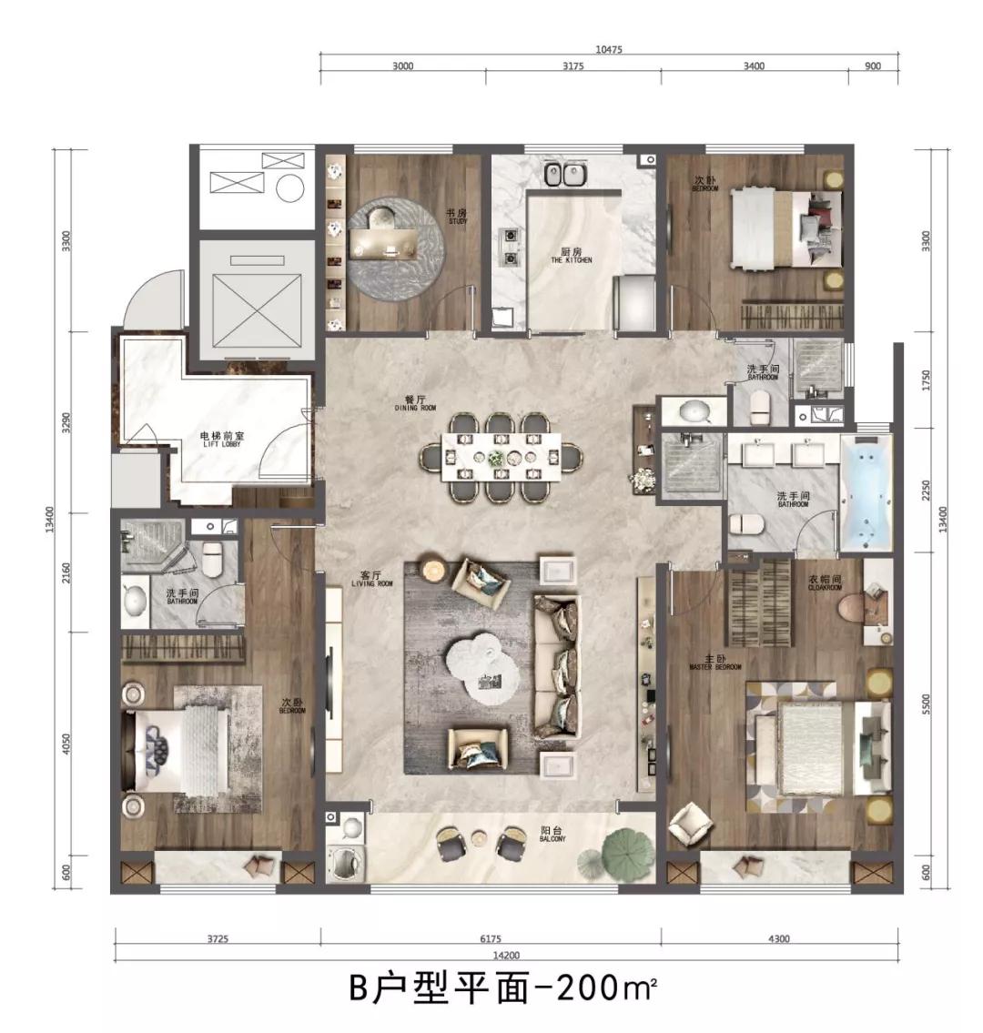 济南市历下区绿地海珀云庭户型图1
