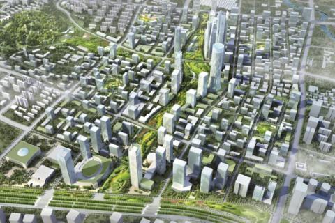 济南市历下区绿地海珀云庭效果图3