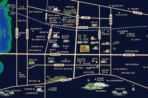 济南市章丘区碧桂园玖珑府区位图1
