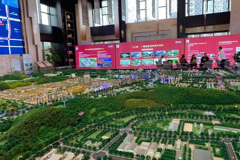 济南中铁城沙盘图