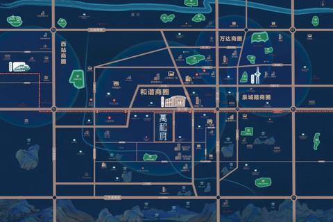济南市槐荫区远洋万和府交通图