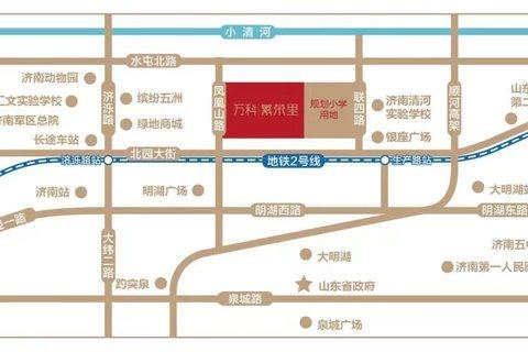 济南天桥区万科繁荣里区域位置图5