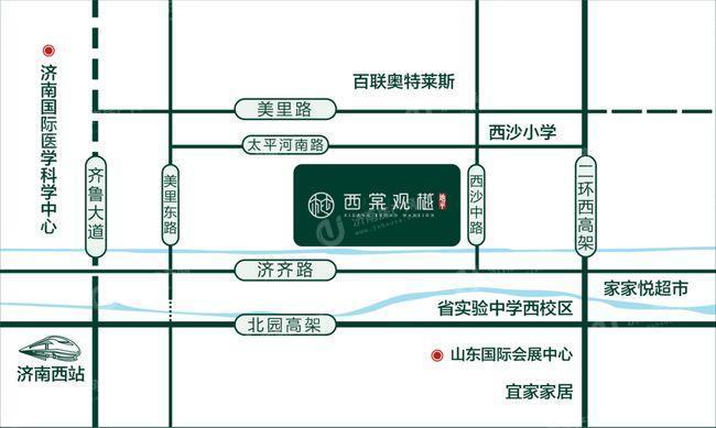 济南市槐荫区地平西棠观樾区位图1.jpg