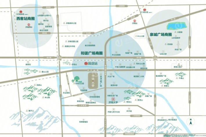 济南市中区骏茂府区位图1