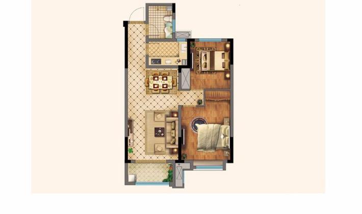 7#楼A2户型89平米2室