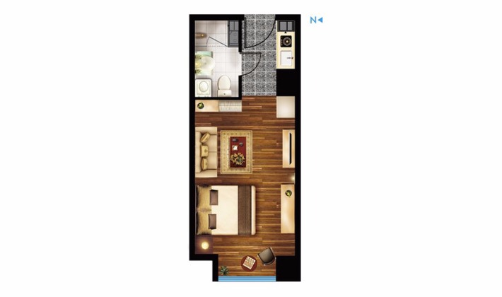 E3户型41平米1室