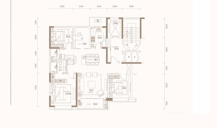 D2户型140平米4室