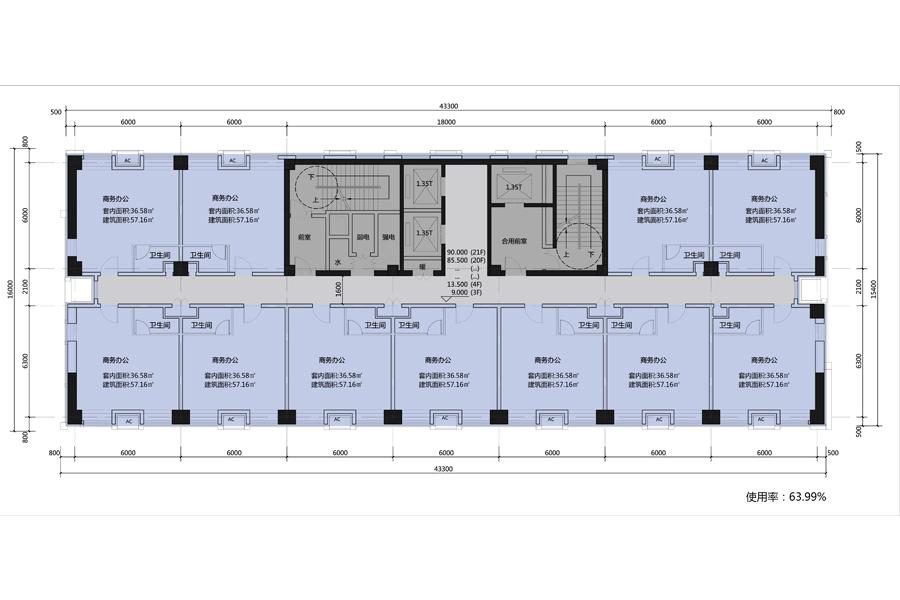 LOFT公寓楼层平面图2