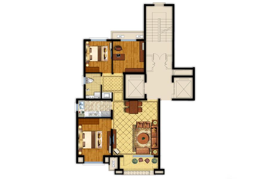 95平两室