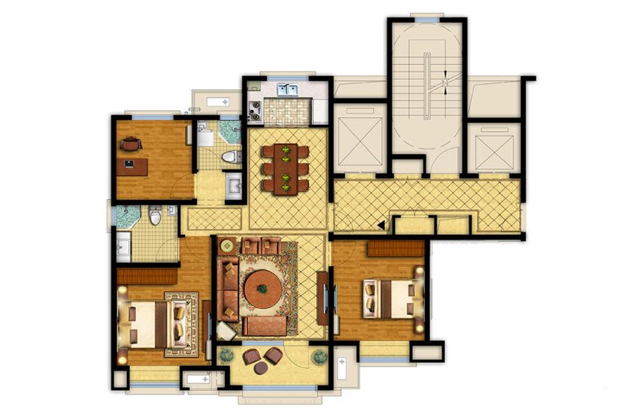 115平三室