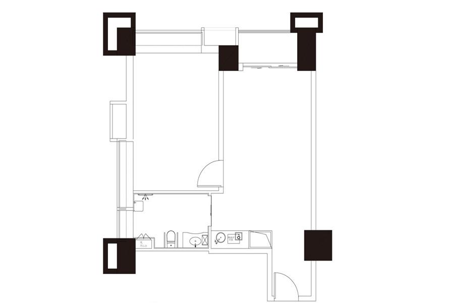 公寓户型2, 商住, 建筑面积约109.18平米