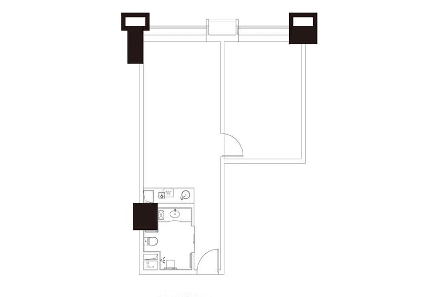 公寓户型3, 商住, 建筑面积约101.64平米