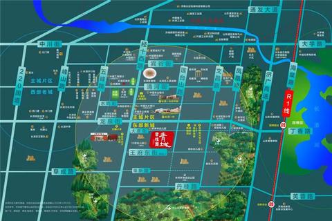 长清碧桂园青城位置区域图1