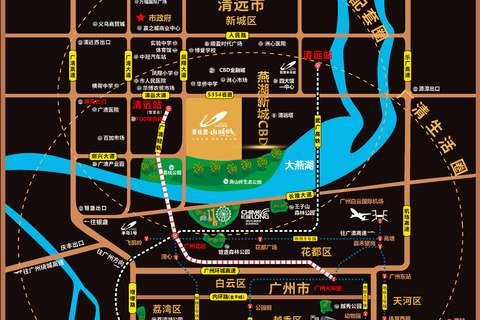 碧桂园山湖城位置区域图