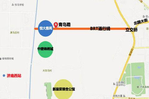 济南恒大雅苑位置区域图