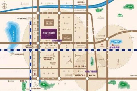 济南龙湖新壹街交通图