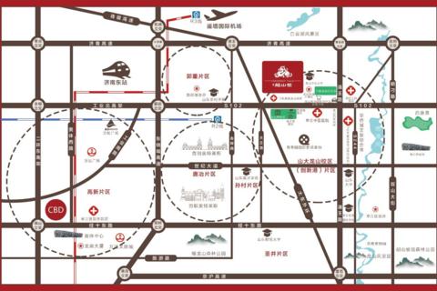 三庆龙山墅位置区位图