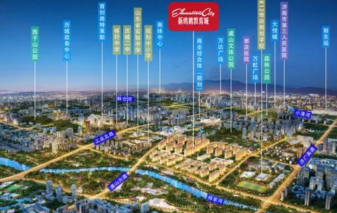 济南新鸥鹏教育城位置区域图