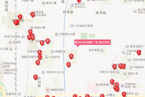 济南槐荫保利中科创新广场位置区域图