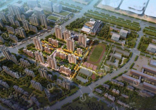 济南先行区济阳绿地国际博览城效果图