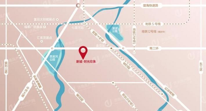 新城时光印象位置区域图